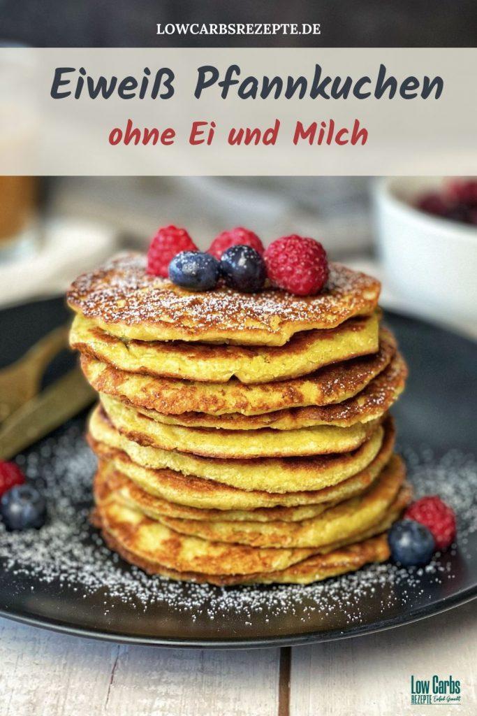 Protein/Eiweiß Pfannkuchen ohne Ei und Milch - Vegan Pfannkuchen